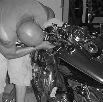 don-schindler-working-on-harley-bw