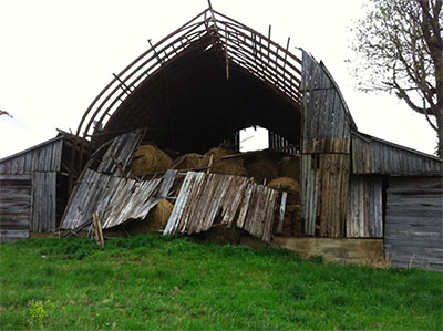 Our Big Barn Collapsed After A Wind Sheer