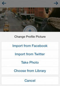 Add profile picture to Instagram