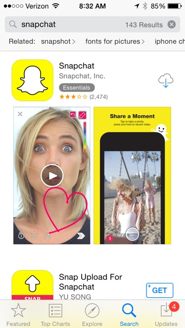 snapchat download app