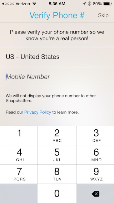Snapchat Add number