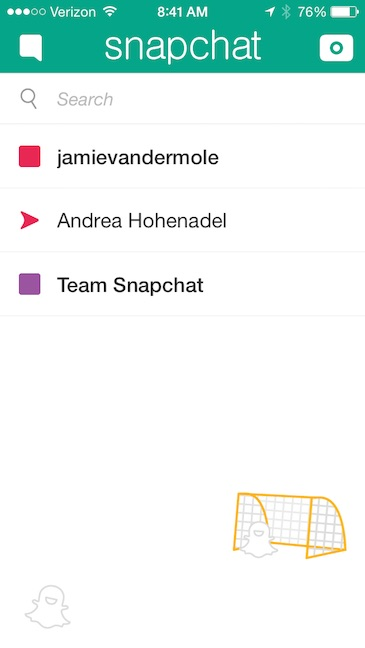 Snapchat message icons