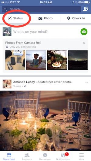 facebook-live-status-update