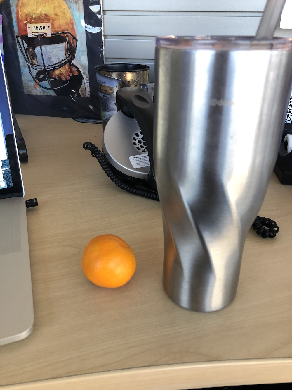 Water with an orange